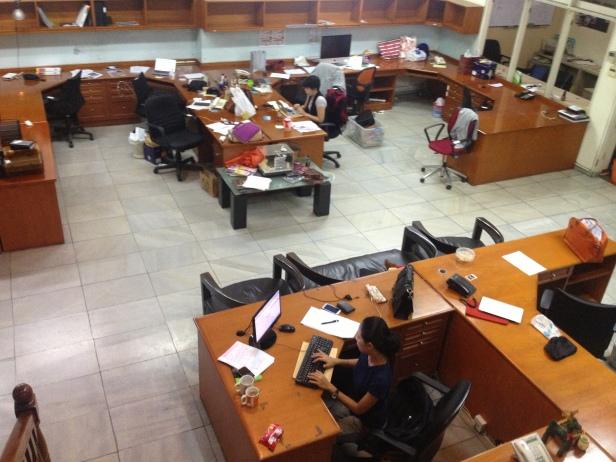 Some last minute work before we all move to Kyai Maja