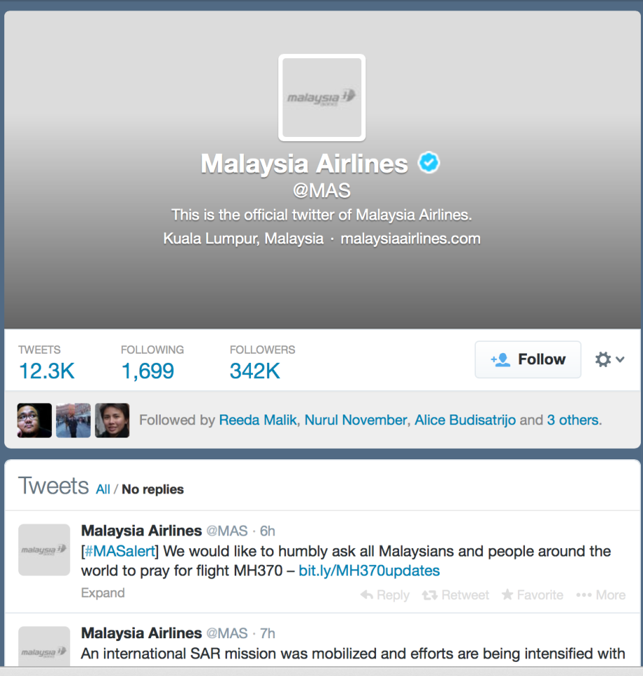 MAS Twitter