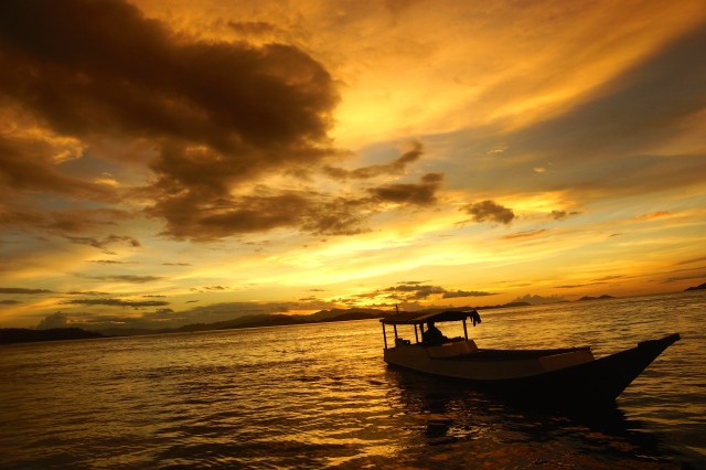 Sunset, off Labuan Bajo, Flores