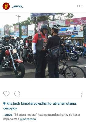 One of the photos of the Jogja confrontation going viral on social media